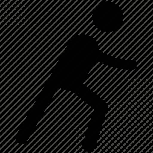 man, pedestrian, person, running, traveler, walker icon