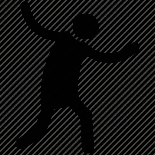 cheering, dancer, dancing man, dancing person, enjoying, joyful, performer icon