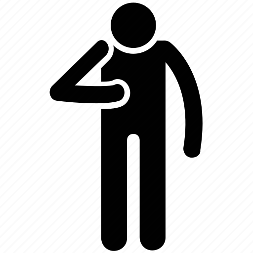 arm fracture, man, man silhouette, man standing icon