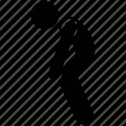 man, man kneel, men silhouette, person bow icon