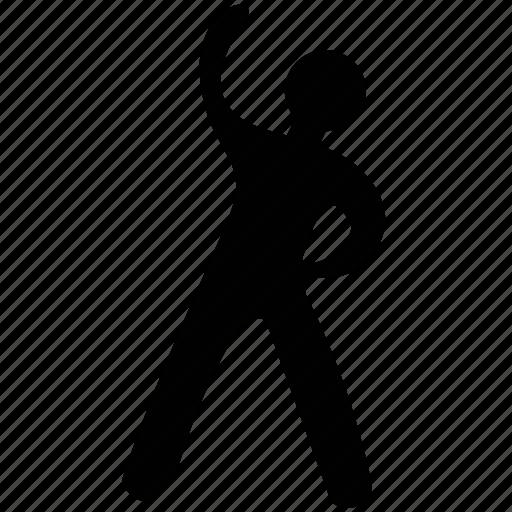 exercise, fitness, gymnasium, man, man exercising, stretching exercises icon