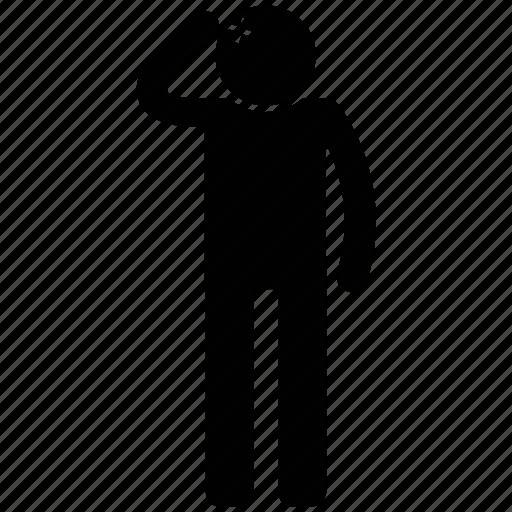 injured, man, salute, traffic police icon
