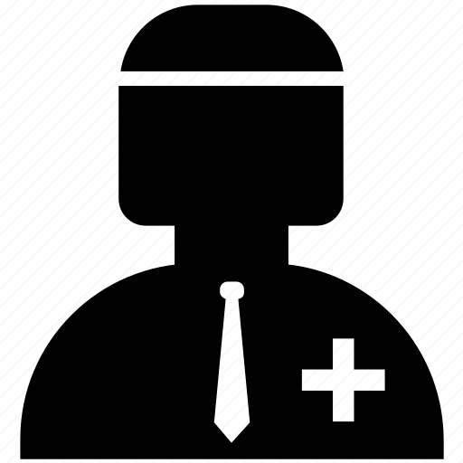 doctor, male, male doctor, medical staff, physician, silhouette icon