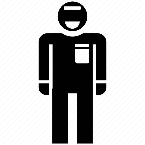 avatar, man, man standing, security guard, security officer, silhouette icon