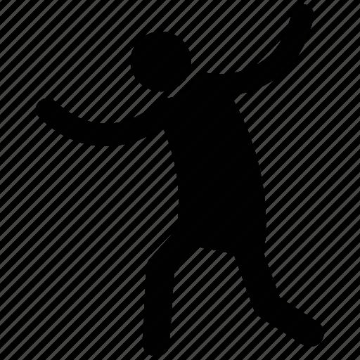 cheering, dancer, dancing person, happy, joyful, man dancing, performer icon