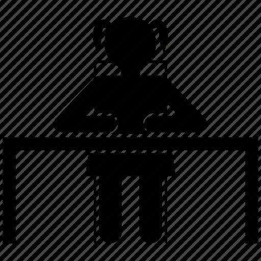 avatar, classroom, girl, pupil, schoolgirl, student icon