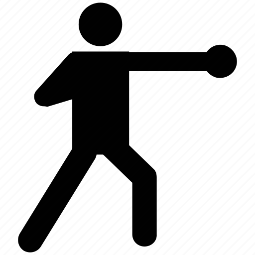 boxer, boxing, fight, fighting, silhouette, sports icon
