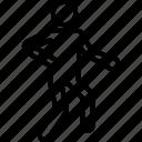 athlete, avatar, exerciser, gym, silhouette icon