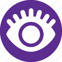 body, eye, human, lash, organ, view, vision icon