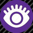 eye, lash, body, human, organ, view, vision