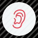 ear, ear icon, earlap, eye, lug icon