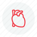 cardiology, healthcare, heart, heart icon icon