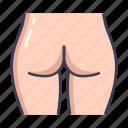 butt, female, woman icon