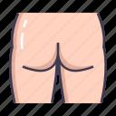 body, butt, male icon
