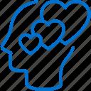 affection, emotion, feeling, heart, love, mind, romance icon
