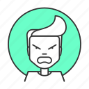anger, boy, emotions, feeling, fury, rage, spite icon