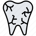decay, dental, dentist, molar, tooth icon