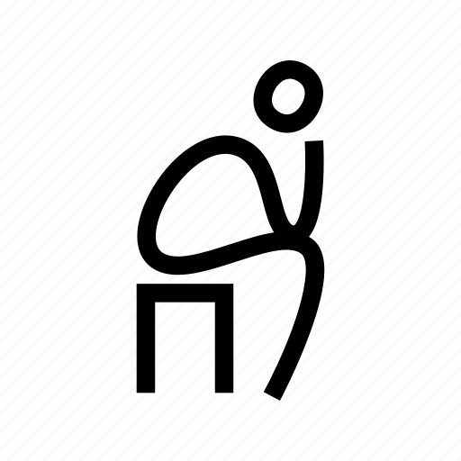 Chair, man, pose, sit, sitting, think, thinking icon - Download on Iconfinder