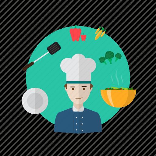 avatar, chef, cooking, cuisine, ingredients, menu, restaurant icon
