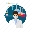 avatar, chemical, designer, microscope, molecular, pharmacology, pharmacy icon
