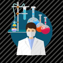 avatar, chemical, designer, microscope, molecular, pharmacology, pharmacy icon