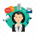 avatar, chat, communicator, connection, conversation, message icon