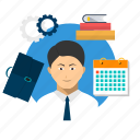 avatar, businessman, employee, job, occupation, work, worker icon