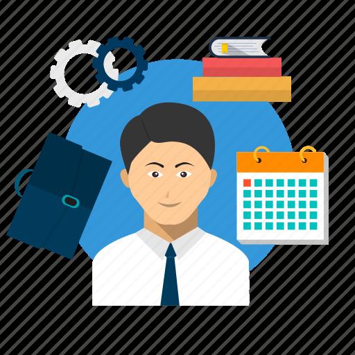 avatar, businessman, employee, job, occupation, work, worker icon