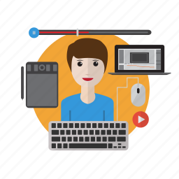 animator, avatar, design, mechanical, mechanism, motion design, precision icon