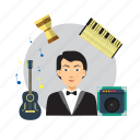 acoustic, avatar, band, concert, entertainment, musician icon