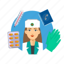 assistance, avatar, hospital, nurse, occupation, profession, professional icon