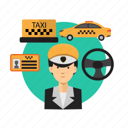 avatar, car, driver, taxi, transport, travel, vehicle icon