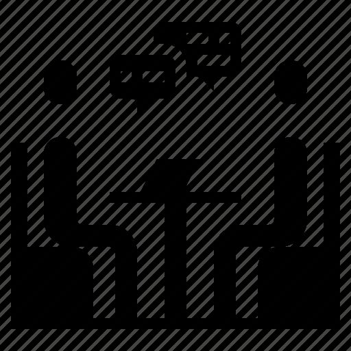 business, hr, interview, job icon