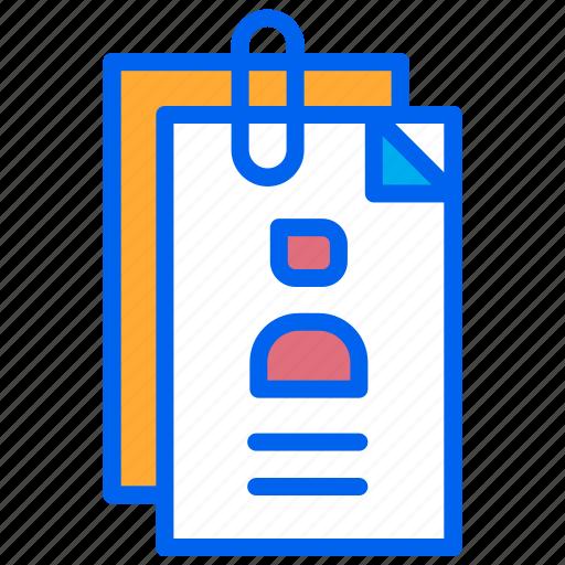 document, job, portofolio, proposal, work icon