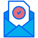 approved, check, document, email, verified icon