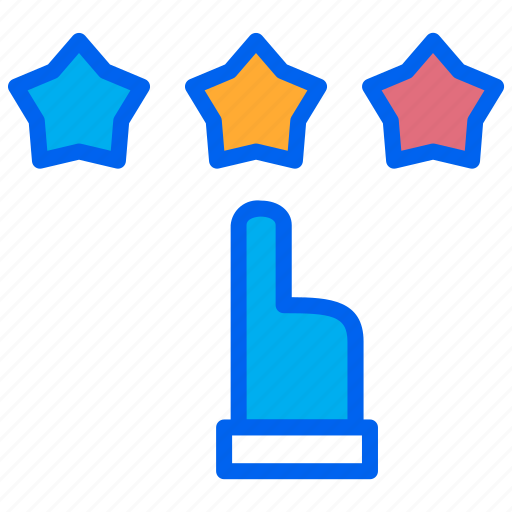 hand, love, rating, review, star icon
