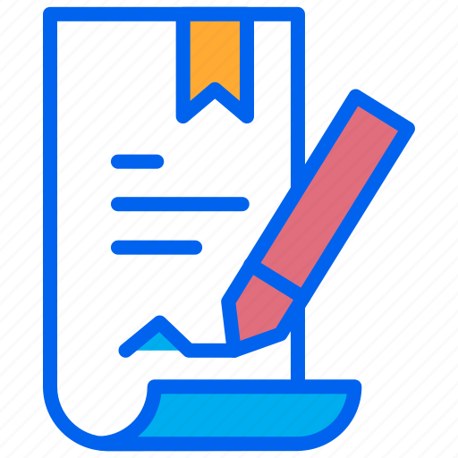 assignment, contract, paper, terms, write icon