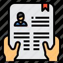 application, curriculum, document, portfolio, resume