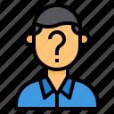 businessman, human, question, resource, startup