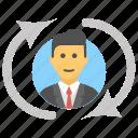 male, man, refresh, refresh profile, refresh user icon