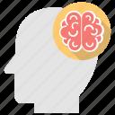 brain, intelligence, mental calculation, mind, smart worker icon