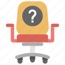 interview question, job interview, nominee, question mark, vacancy icon