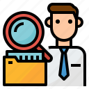audit, business, management, staff icon