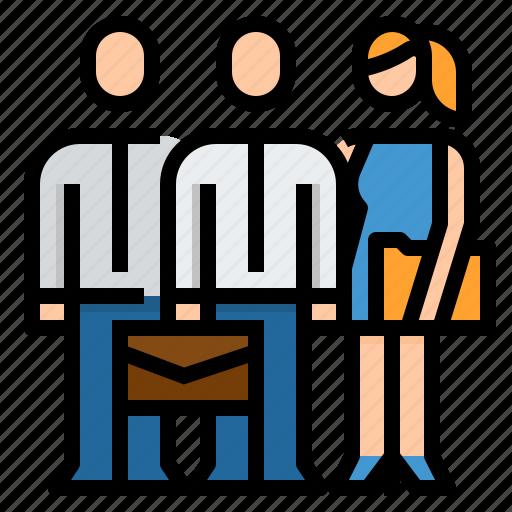 business, employee, man, team icon