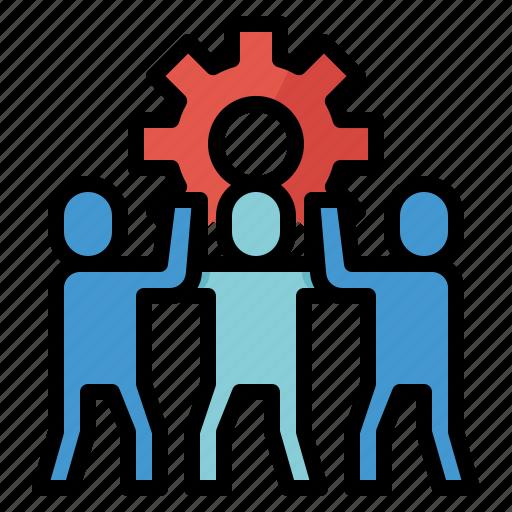 business, team, teamwork, working icon