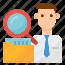 audit, business, management, staff icon