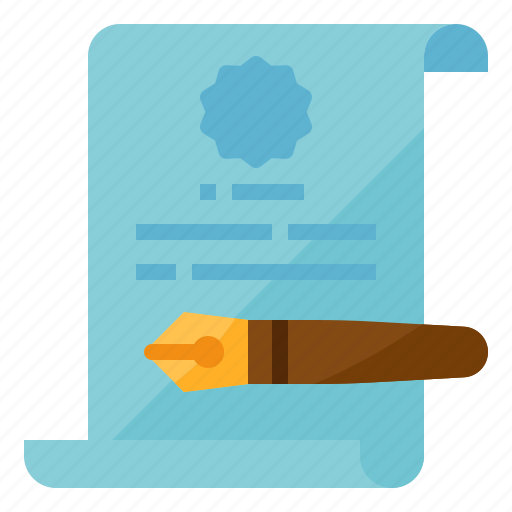 contract, document, employment, sign icon