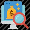 audit, business, financial, management icon