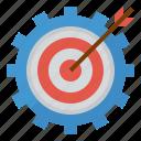 business, goals, management, target icon