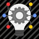 idea, business, settings, gear, innovation, bulb